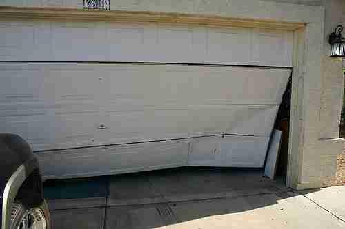 Garage Door Wrecked