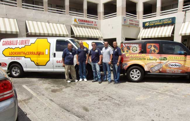 locksmith miami team of caraballo liberty