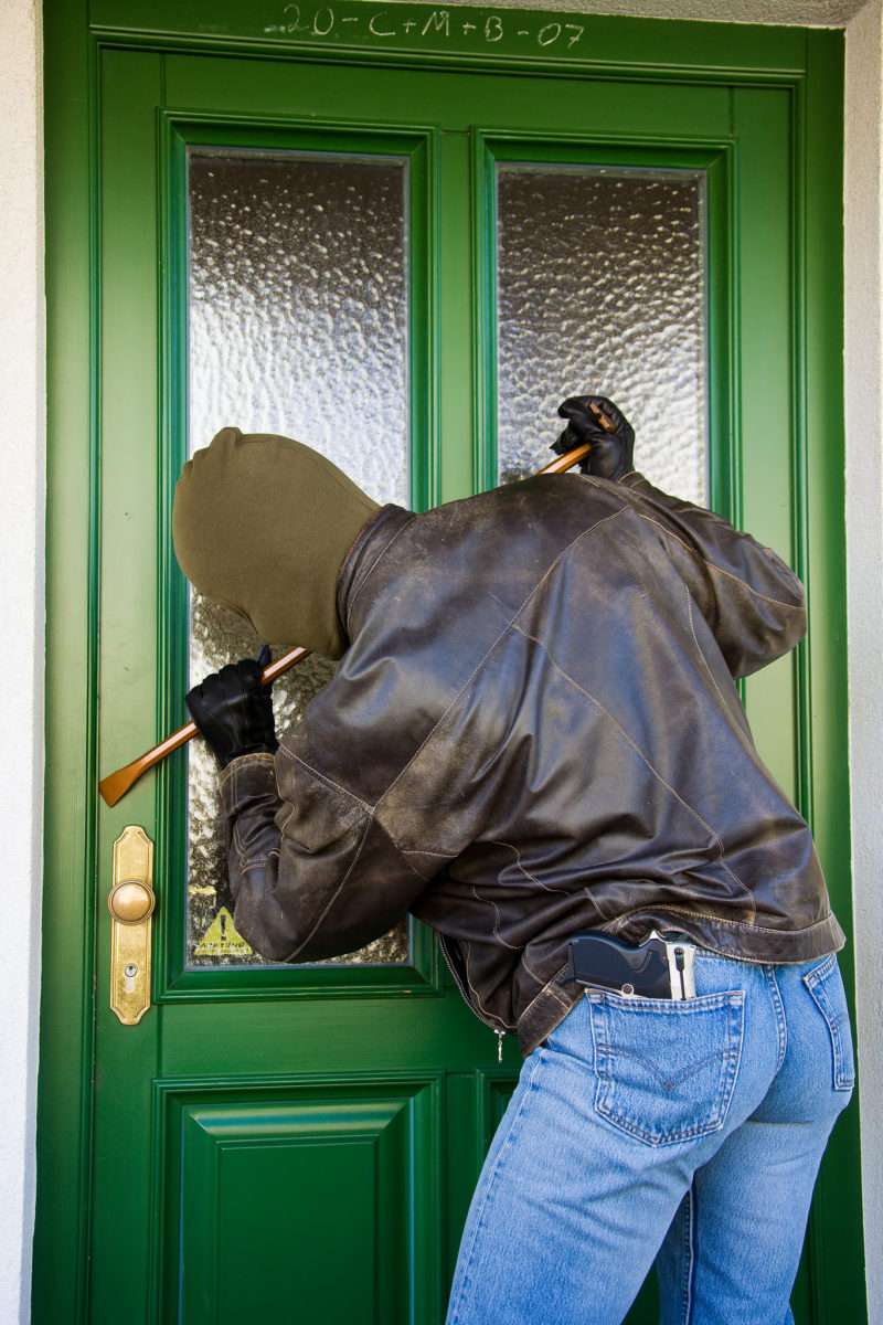 Burglar trying to break-in