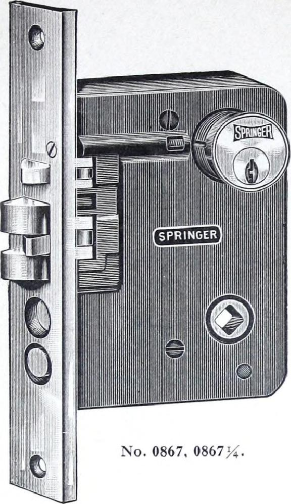 Mortise lock illustration