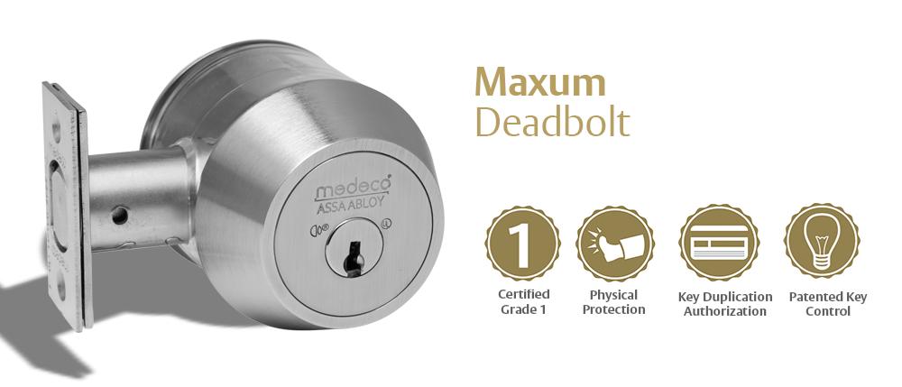 Medeco Maxum Deadbolt - Grade 1