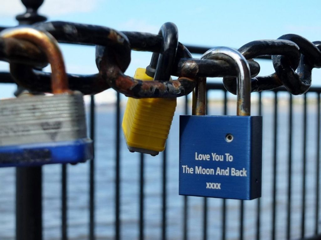 shield the padlock from weather