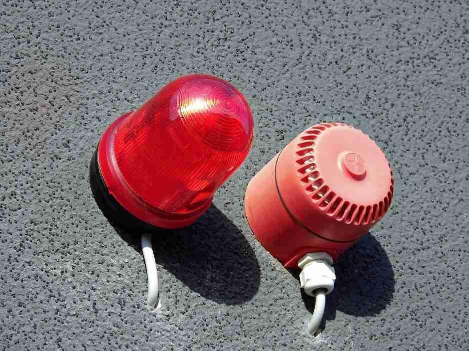 set up burglar alarms