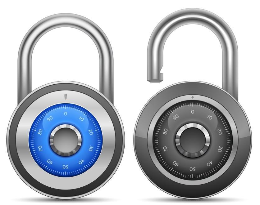 get a key or combination lock