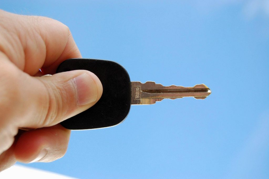 replacement car key is damaged