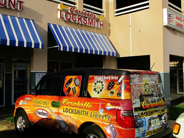 Brickell locksmith work van