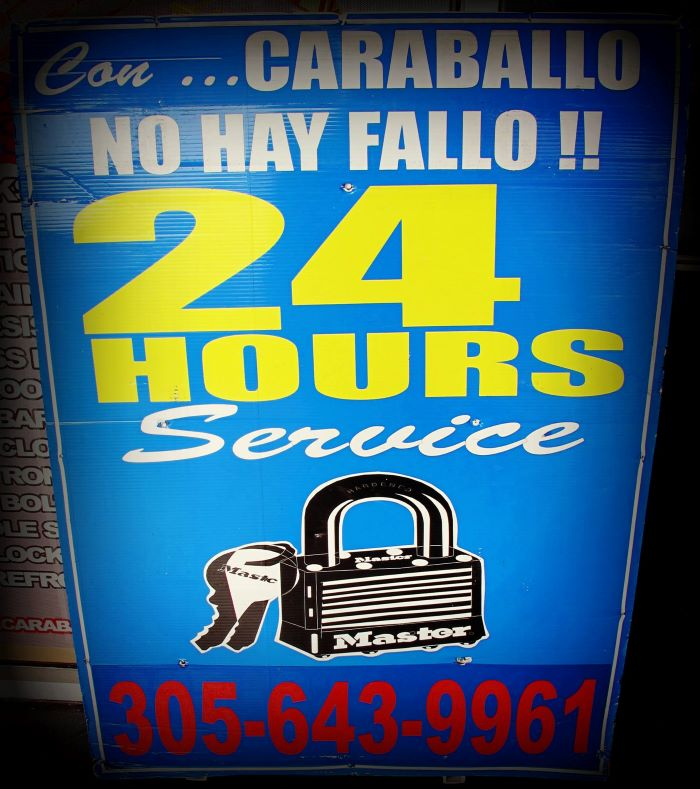 Locksmith Brickell Miami slogan-Con Caraballo no hay Fallo