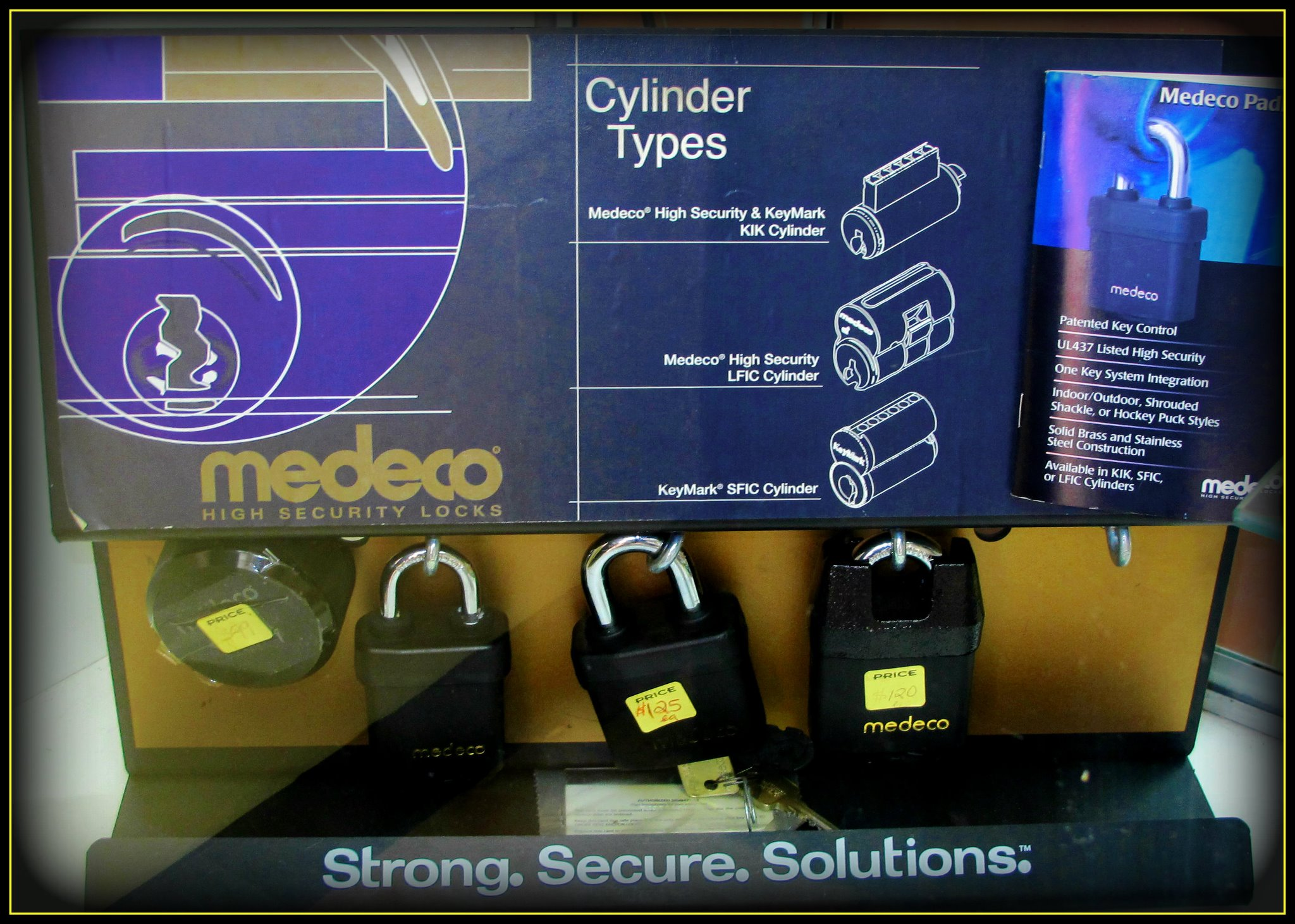 Medeco high security padlocks